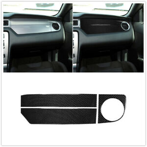 Car Carbon Fiber Center Console Dashboard Cover Trim For Ford Mustang 2009 2013
