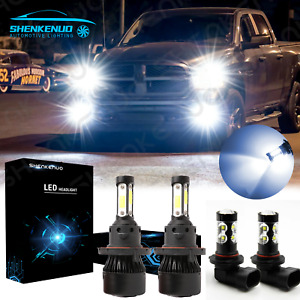 Led Headlight Fog Light Bulbs For Dodge Ram 1500 2500 3500 2007 2008 2009