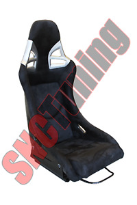 Snc G9 Full Bucket Fixed Back Racing Seat Black Suede Carbon Fiber Shell