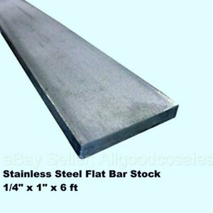 Stainless Steel Flat Bar Stock 1 4 X 1 X 6 Ft Rectangular 304 Mill Finish