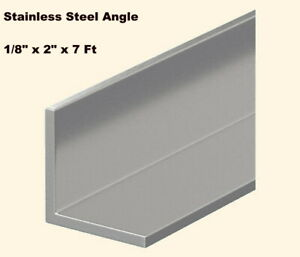 Stainless Steel Angle Iron 1 8 X 2 X 7 Ft 90 Hot Rolled 304 Mill Finish
