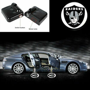 2x Universal Wireless Car Led Oakland Raiders Projector Door Ghost Lights