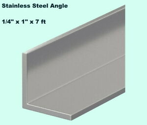 Stainless Steel Angle Iron 1 4 X 1 X 7 Ft 90 Hot Rolled 304 Mill Finish