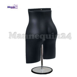 Black Mannequin Female Butt Form With Stand Hook For Hanging