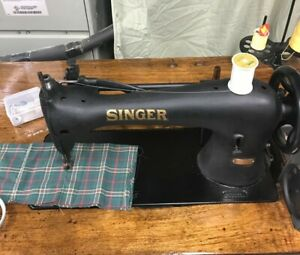 Singer 16 188 Industrial Leather Sewing Machine Walking Foot Excellent Condition