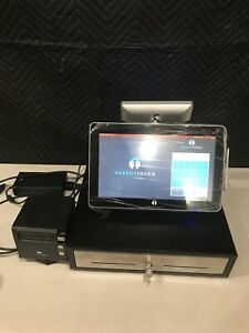 Harbor Touch Ht sp13 Pos Touchscreen System Terminal Cash Drawer And Printer