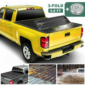 5 8ft Hard Tonneau Cover 3 Fold For 09 19 Ram 1500 Truck Bed Tri Fold Dustproof