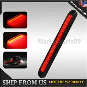 10 Red Led Trailer Tail Lights Bar Truck Brake Running Boat Marker Light Strip
