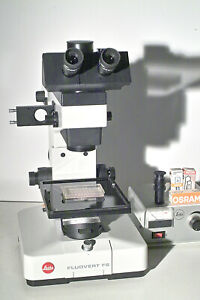 Leitz Research Inverted Microscope Fluovert Fs Phase add Fluorescence Later