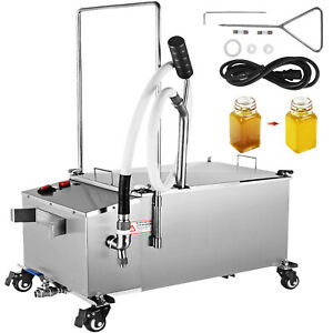 58l Stainless Fryer Oil Filter Machine Commercial Oil Filtration System
