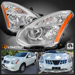 For 2008 2013 Nissan Rogue 2014 2015 Select Clear Halogen Headlights Lamps Pair