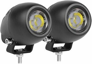 Pair 2inch Round Cree White Led Spot Work Lights Driving Fog Motor Offroad Truck