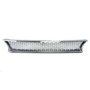 Fits Toyota Corolla 1993 To 1997 Front Bumper Grille Chrome Honeycomb