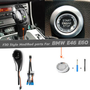 F30 Style Carbon Led Shift Knob Selector Engine Refit For Bmw E46 E60 3 5 Series