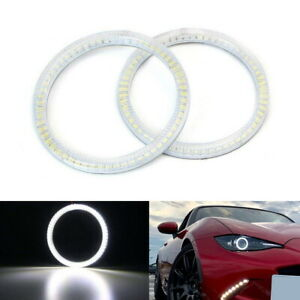 6000k Xenon White Smd Led Angel Eyes Halo Rings For 16 up Mazda Mx 5 Nd Roadster