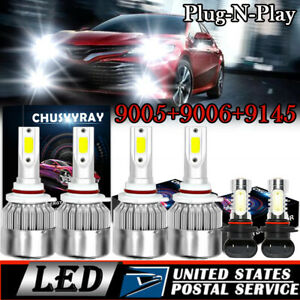 Combo Led Headlight Fog Light Bulb For Toyota Camry 2002 2003 2004 2005 2006