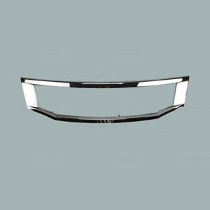 Outer Grill Grille Shell Chrome Trim Fit For 2008 2010 Honda Accord Sedan New