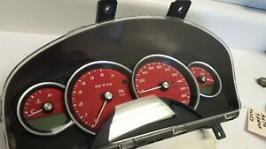 05 06 Gto Gauge Gage Instrument Cluster Red Faces 103k Stick 92172960