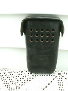 Vintage Leather Police Fire Radio Holder Case Flip Top Silver Snaps used