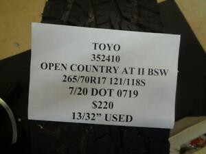 1 Used Toyo Open Country At Ii Bsw 265 70 17 121 118s 13 32 Tire 352410