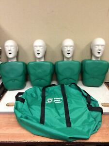 One Lot Of 4 Cpr Prompt National Safety Council Adult Cpt Training Manikin