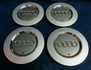 Audi A6 03 04 Silver Chrome Center Caps Set Of 4 Fits The 17 Alloy Wheel