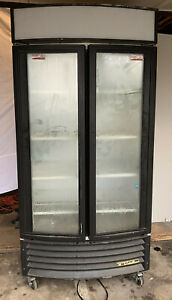 True Gdm 35rf Glass 2 Door Merchandiser Refridgerator Used Tested Works