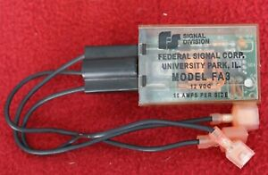 Federal Signal Fa3 Two Lamp Position Lightbar Wigwag Alternating Flasher 12v