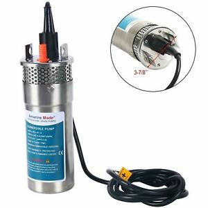 24v Dc Stainless Shell Submersible 3 2 Gpm 4 Deep Well Water Pump Solar Battery