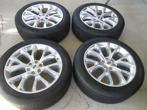 22 Ford F150 Factory Expedition Polished Alloy Wheels Rims Tires Take Offs