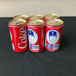 Vintage 1984 Detroit Tigers World Champ Kirk Gibson Coca Cola 6 Pack with Holder