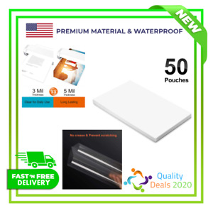 Water P 50 Pack Ktrio Laminating Sheets Pouches 11x17 Inches 5 Mil Clear Thermal