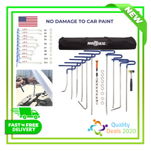 Mookis Durable Dent Removal Rods Set Paintless Repair Tools No Demage Car Paint