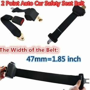 Universal Black Color Retractable 2 Point Auto Car Safety Seat Belt For All Car
