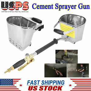 4 Jet Cement Mortar Sprayer Gun Stucco Spray Paint Wall Concrete Tool Usa