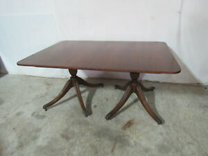 Signed Baker Dining Room Table Mahogany Banded
