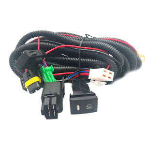H11 Fog Light Wiring Harness Sockets Wire Led Indicators Switch For Toyota