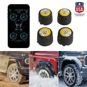4 0 Car Bluetooth Tire Pressure Monitor System External Sensors For Ios Mobile