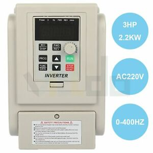 3hp 220v 2 2kw Variable Frequency Drive Inverter Vfd Single To 3 Phase Output