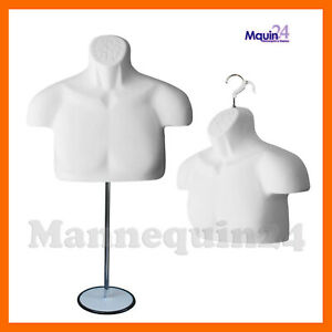New Male Mannequin Form Stand torso Men Display Trade Show Pant T shirt whit