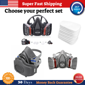 Respirator Protection Face Mask And Filters Perfect Set Gas Chemical High Safety