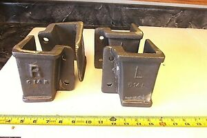 2r 2l Cast Iron Lineberry Wood Wheel Factory Cart Stake Pocket Holder