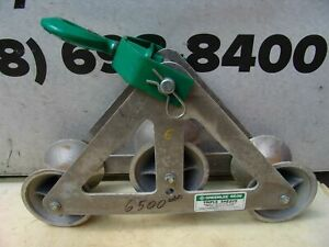 Greenlee 6036 6000 Lbs Triple Sheave Wire Pulling Tugger Puller Great Shape 6