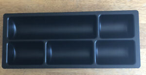 Steelcase Office Desk Organizer Keyboard Tray Drawer Black Divider Insert