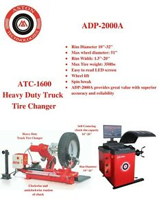 Truck Tire Changer 14 26 W truck Wheel Balancer led Screen Combo 1600 2000a