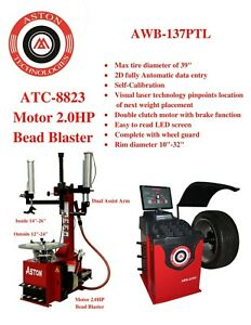 2 0hp Tire Changer Wheel Changers Machine Balancer W laser Rim 28 clamp Combo
