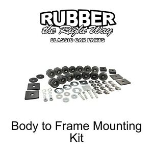 1957 1958 Ford Body To Frame Mounting Kit