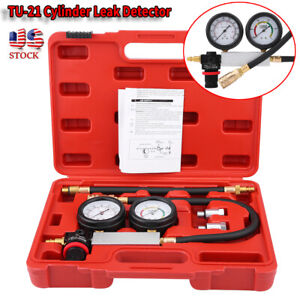 Cylinder Leak Tester Petrol Engine Compression Leakage Leakdown Tu 21 Detector
