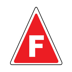 Truss Floor Decals F Red Anti slip Triangle Shape B Construction Signs Stickers