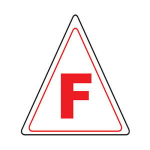 Truss Floor Decals F Red Anti slip Triangle Shape A Construction Signs Stickers